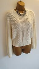 Jane Norman Cream Ivory Cable Knitted winter jumper smart casual worn once 6-8