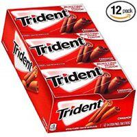 Trident Sugar Gum Cinnamon Flavor 14 Sticks / 12 Count