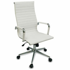 New White Modern Executive Ergonomic Conference Computer Desk Office Task Chair