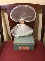 "❤ NEW IN BOX 1960s Vintage Madame Alexander Bent Knee Walker Wendy Bride doll 8"""