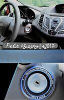 Zündschlossringe / Alu mit flouros. Inlet mit Logo passend für Fiesta silber