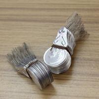 100x Silver Tone DIY Needle Threader Stitch Insertion Hand Machine Sewing Tool
