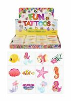 72 Mermaid Temporary Tattoos (6 Bags Of 12) - Pinata Loot/Party Bag Fillers