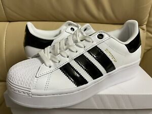 Adidas Originals Superstar Bold Women's Size 8 Shoes White/Black/Gold FV3336