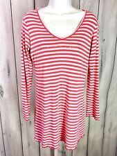 Victorias Secret Womens Sleep Shirt Nightgown Long Sleeve Size Medium Pink