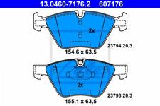 Bremsbelagsatz, Scheibenbremse für Bremsanlage Vorderachse ATE 13.0460-7176.2