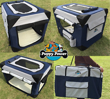 PUPPY POWER PORTABLE PET HOME, SOFT CRATE, COLLAPSIBLE DOG KENNEL- GIANT 122CM
