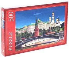 Russia Moscow View Enbankment Kremlin Famous Architecture Building Puzzle 500pcs