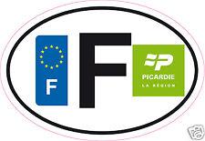 Autocollant sticker département 02 Région Picardie  nouveau logo