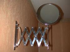 Ancien miroir mural orientable double face grossissant vintage 70's