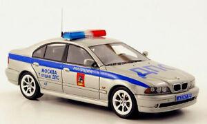 wonderful modelcar BMW 525i (E39) MOSKOW POLICE - silver - scale 1/43 - lim.ed.