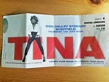 More details for tina turner - millennium tour. don valley stadium. 13th july 2000 ticket stub