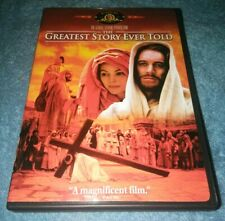 The Greatest Story Ever Told DVD Max Von Sydow *CHURCH *JESUS CHRIST *GOD *RARE