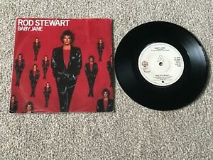 "ROD STEWART - BABY JANE : EX+ UK 7"" VINYL SINGLE W 9608 - PLAYS GREAT!!"