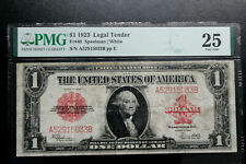 1923 $1 United States 'Red Seal' Note PMG Certified VERY FINE 25 LEGAL TENDER