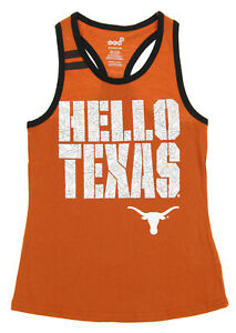 OuterStuff NCAA Texas Longhorns Youth Girls Princess Cut Tank, Orange