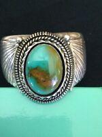 Ben Begaye Navajo Sterling Silver & Turquoise  Cuff Bracelet..stunning!