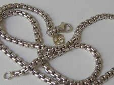 DAVID YURMAN 14K GOLD SS 3.6mm BOX CHAIN NECKLACE 20 ""