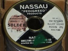 Western Electric NASSAU pedigreed solder.032 RARE #5,Best of the Best