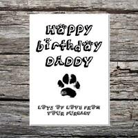 funny cute birthday card - happy birthday daddy love from the dog your furbaby