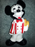 MICKEY MOUSE FIGURINE w/ Top Hat VINTAGE DISNEY DISNEYANA Porcelain ANTIQUE