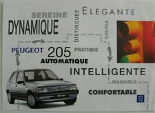 Brochure PEUGEOT 205 automatique de 07 / 1994