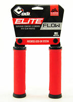 ODI Elite Flow V2.1 Lock On ATB Grips BMX MTB Hybrid Bike No Flange Red 130mm