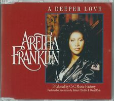ARETHA FRANKLIN  - A DEEPER LOVE / (REMIXES) 1994 UK 4 TRACK RED COVER CD SINGLE