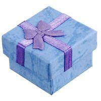 24 Pcs Boites de Cadeaux A Bijoux Carre d'Affichage avec noeud de papillon N5E2