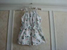 NWT Janie And Jack Girls Palm Floral Romper 12
