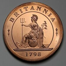 1798 UK Retro Pattern Proof /PL Cartwheel Twopence  Copper George III Coin