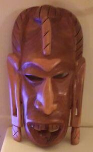 African Kenyan Wooden Mask Tribal Art
