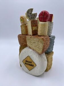 Collectable vintage RARE novelty Cheeses holder and knifes set Silia Vgc