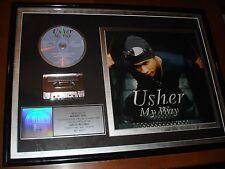 USHER MY WAY RIAA PLATINUM SALES AWARD