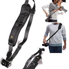 Quick Rapid Single Shoulder Sling Black Belt Strap for Digital SLR DSLR Cam