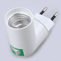E27 Base LED Light Lamp Holder Bulb Adapter Screw Socket PP Rotatable Plug
