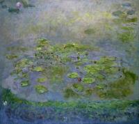 CHENPAT1266 handmade-painted Lotus leaf landscape  oil painting art on canvas