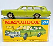 "Matchbox RW 73C Mercury mit seltener ""1968 Mercury"" Bodenplatte in ""F"" Box"