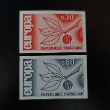 FRANCIA EUROPA Nº1455/1456 SELLO NO DENTADO IMPERF 1965 NEUF LUXE MNH