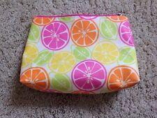 Brand New Clinique Citrus Fruit Design Make Up Bag / Cosmetic Bag Designer