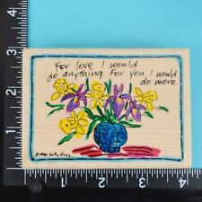 Stampassions If You/'re Wondering D-1279 Wood Mounted Rubber Stamp 1998