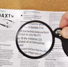 Mini Pocket 6X 50mm Folding Jewelry Magnifier Magnifying Eye Glass Loupe Lens