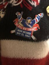 NEW YORK RANGERS PIN MARK MESSIER Vs Devils Special Mint 1994 NHL The Guarantee