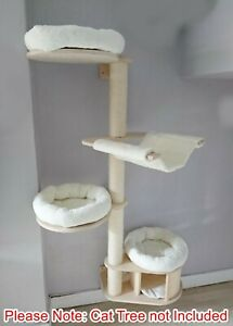 Handmade IVORY WAFFLE Cat Bed Replacement Set for Natural Paradise Wall Cat Tree
