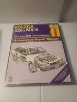 1983-1991 MAZDA 626 and MX-6 SERVICE SHOP HAYNES REPAIR MANUAL 61041