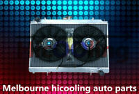 40MM Aluminum radiator&FANS for NISSAN SILVIA S14 S15 200SX SR20DET 2.0 94-02 MT