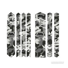 All Mountain Style HONEYCOMB Frame Guard Protection Stickers : CLEAR/CAMO FULL
