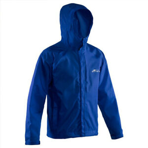 NEW Glacier Blue Grundens Weather Watch Hooded Sport Fishing Rain Jacket GAGE