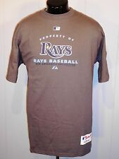 TAMPA BAY RAYS MEN'S T SHIRT M GRAY S. SLEEVE MLB BASEBALL MAJESTIC NWT'S