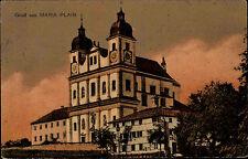 Maria Plain bei Bergheim Salzburg s/w Postkarte 1919 gelaufen Wallfahrtsbasilika